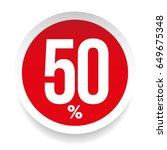 fifty percent sale sticker... | Shutterstock .eps vector #649675348