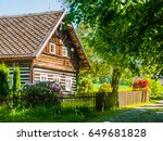 old traditional timbered... | Shutterstock . vector #649681828