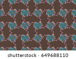 elegant seamless pattern with... | Shutterstock . vector #649688110
