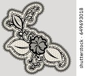 embroidered lace flower. detail ... | Shutterstock .eps vector #649693018