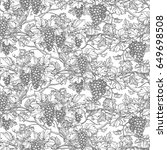 seamless pattern with vine.... | Shutterstock .eps vector #649698508
