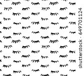 hand drawn seamless pattern... | Shutterstock .eps vector #649701124
