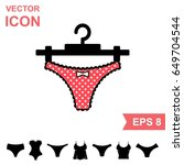 set of lingerie vector icon on... | Shutterstock .eps vector #649704544