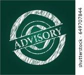 advisory on chalkboard | Shutterstock .eps vector #649707844