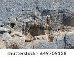 early medieval rock relief...   Shutterstock . vector #649709128