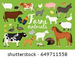 farm animals collection | Shutterstock .eps vector #649711558