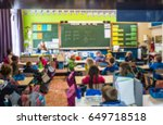 student and teacher learning in ... | Shutterstock . vector #649718518