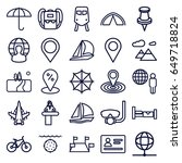 travel icons set. set of 25... | Shutterstock .eps vector #649718824