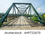 memorial bridge in pai district ... | Shutterstock . vector #649722670