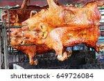 barbecued suckling pig  ... | Shutterstock . vector #649726084