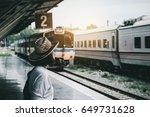 summer travel hipster travel... | Shutterstock . vector #649731628