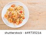 delicious spaghetti with... | Shutterstock . vector #649735216