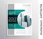 company annual report business... | Shutterstock .eps vector #649736746