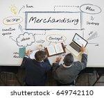 businessman merchandising... | Shutterstock . vector #649742110