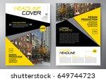 business brochure. flyer design.... | Shutterstock .eps vector #649744723
