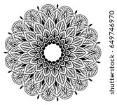 mandalas for coloring book.... | Shutterstock .eps vector #649746970