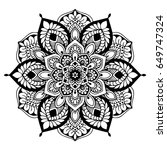 mandalas for coloring book.... | Shutterstock .eps vector #649747324