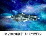 original 3d illustration. space ... | Shutterstock . vector #649749580