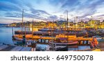 port of oslo city in norway. | Shutterstock . vector #649750078
