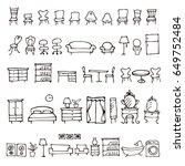 hand drawn furniture sketch...   Shutterstock .eps vector #649752484