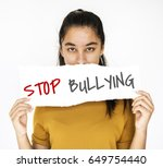 stop bullying aggressive force... | Shutterstock . vector #649754440
