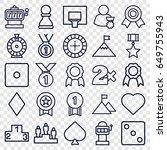 win icons set. set of 25 win...   Shutterstock .eps vector #649755943