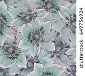 seamless background. flowers....   Shutterstock . vector #649756924