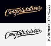 congratulations. calligraphy... | Shutterstock .eps vector #649761223