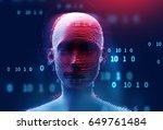digital human hacker represent  ... | Shutterstock . vector #649761484