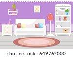 living room interior. vector...   Shutterstock .eps vector #649762000