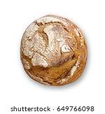 freshly baked bread isolated on ... | Shutterstock . vector #649766098