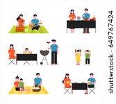 picnic people character vector... | Shutterstock .eps vector #649767424