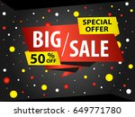 design a banner ad template on... | Shutterstock .eps vector #649771780