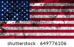 united states of america flag... | Shutterstock . vector #649776106
