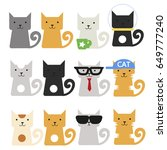 cats set  | Shutterstock .eps vector #649777240