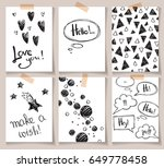 set of abstract creative cards... | Shutterstock .eps vector #649778458