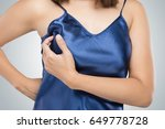 breast cancer self check  woman ...   Shutterstock . vector #649778728