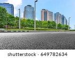 empty downtown street... | Shutterstock . vector #649782634