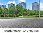 empty downtown street...   Shutterstock . vector #649782658