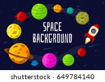 space landscape with planet and ... | Shutterstock .eps vector #649784140