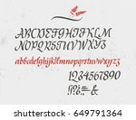 classic italic alphabet with...   Shutterstock .eps vector #649791364