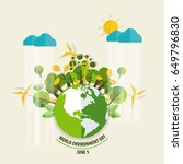 world environment day concept.... | Shutterstock .eps vector #649796830