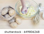 mashed potato preparation   Shutterstock . vector #649806268