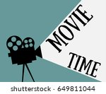 movie time  flat style | Shutterstock .eps vector #649811044