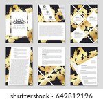 abstract vector layout... | Shutterstock .eps vector #649812196