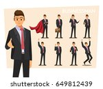 businessmen set  vector... | Shutterstock .eps vector #649812439