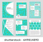 abstract vector layout... | Shutterstock .eps vector #649814890