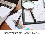 financial printed paper charts  ... | Shutterstock . vector #649816780