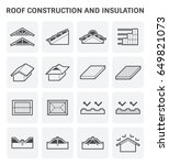 roof icon consist of... | Shutterstock .eps vector #649821073