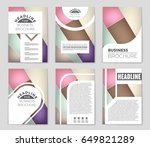 abstract vector layout... | Shutterstock .eps vector #649821289